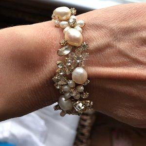 BHLDN blush and jeweled bracelet